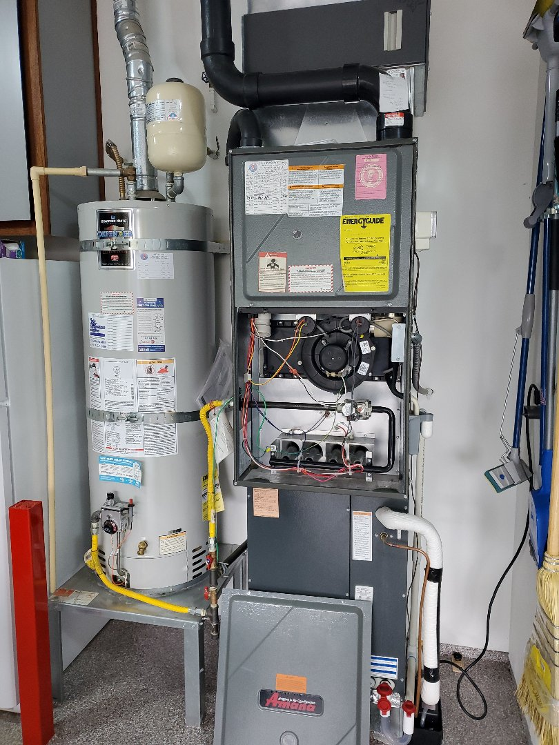 Ridgefield, WA - Performed a service and cleaning on an amana gas furnace and a daikin air conditioner. Comfort club annual maintenance agreement.