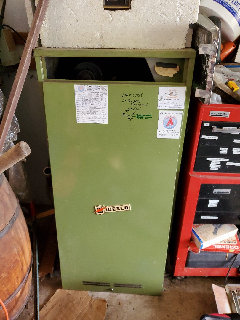 Battle Ground, WA - Performed a service and cleaning on a Wesco electric furnace and air handler. Comfort club annual maintenance agreement.