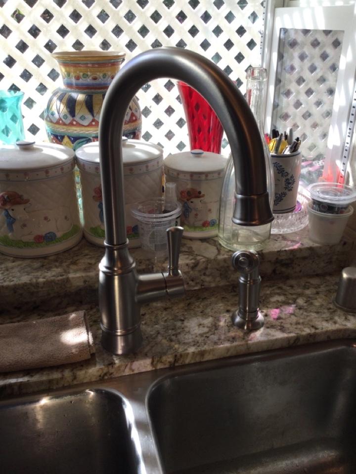 Pasadena, CA - Plumber is Installing Moen Kitchen Faucet