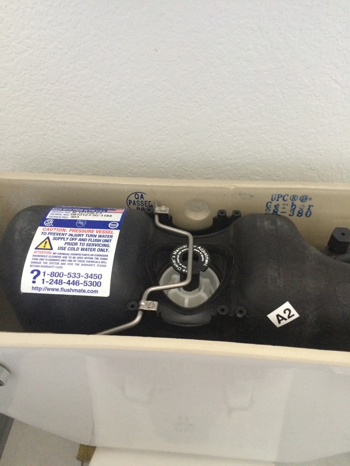 San Dimas, CA - Plumber was called to check out a Gerber toilet Sloan pressure tank and whole house Wilkens pressure regulator. Plumbing repair consisted of replacing to defective toilet tank and pressure regulator.