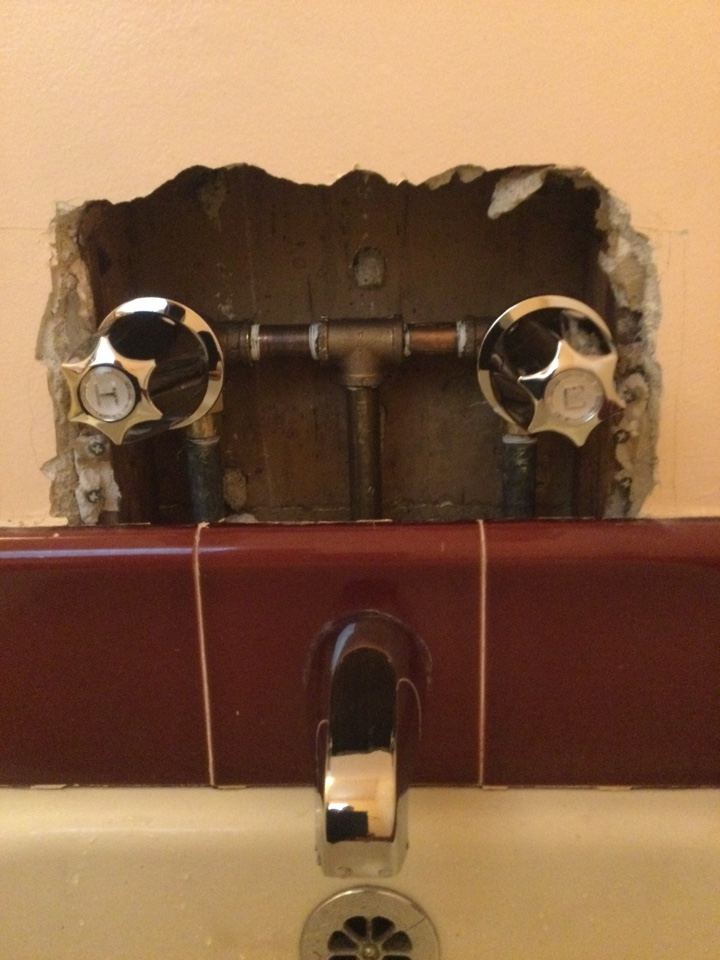 Monrovia, CA - Best plumber near me working on Replacing two handle American Standard tub/shower valve, replacing it with similar style two handle Price Pfister.