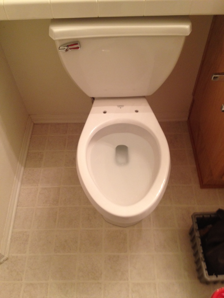 Rowland Heights, CA - Plumber perform evaluate of a toilet problem. Plumbing repair consists of install of new power flush toilet along with a new toilet seat. Discussion of preventative maintenance plan.