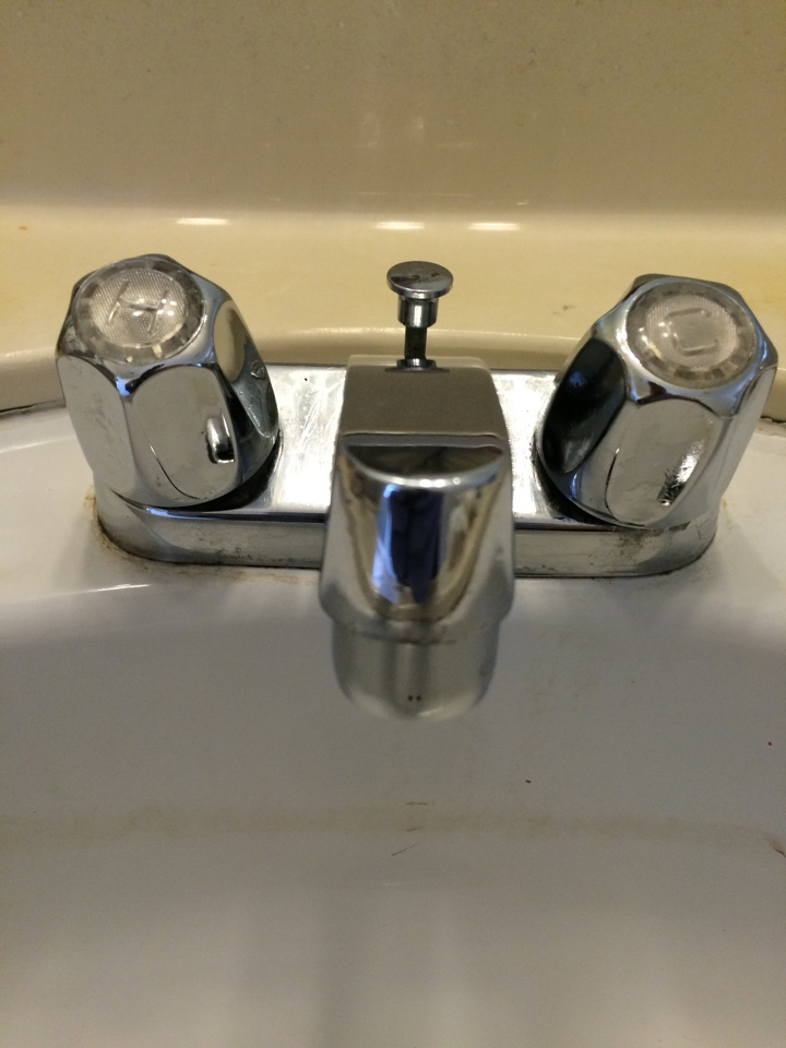 San Gabriel, CA - Plumbing service call . Performed repair of old style price pfister lavatory sink faucet