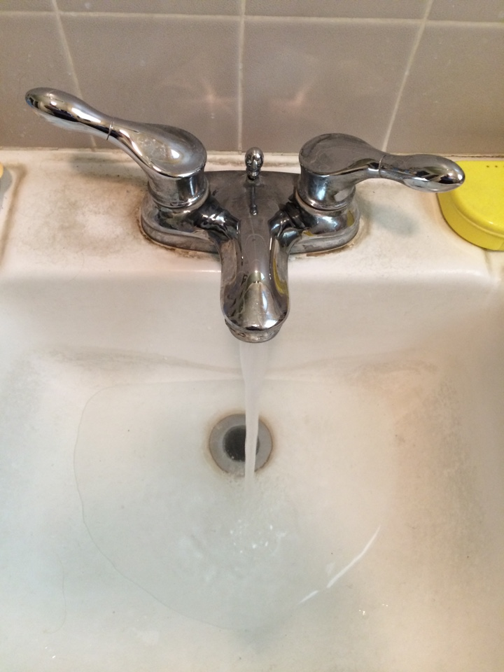 Temple City, CA - Plumbing service call. Drain cleaning service provided in small bathroom sink clogged .