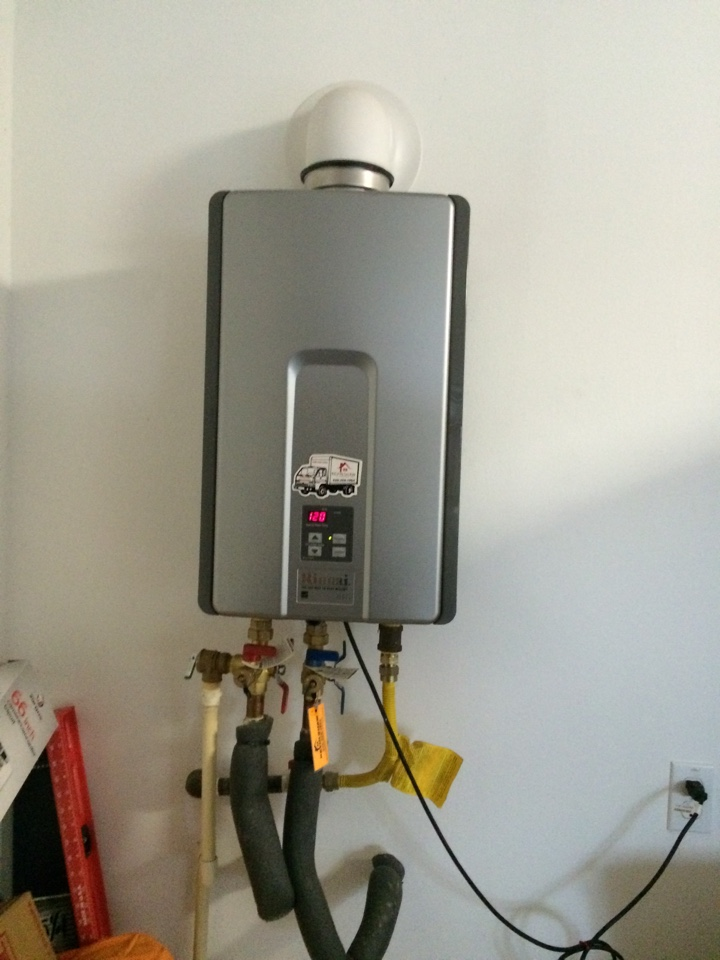 Azusa, CA - water heater service call. inspect a Rinnai  tankless water heater