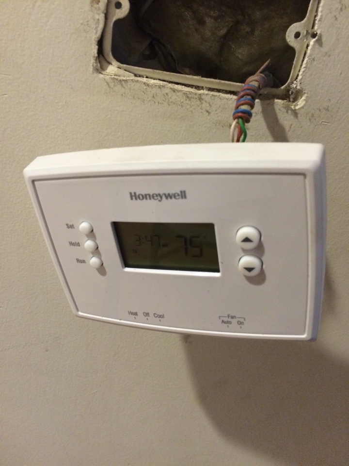 Temple City, CA - Heating service call,  Furnace not working. Install Honeywell thermostat. Replaced defective pressure switch. Honeywell thermostat control. Rheem furnace and AC check.
