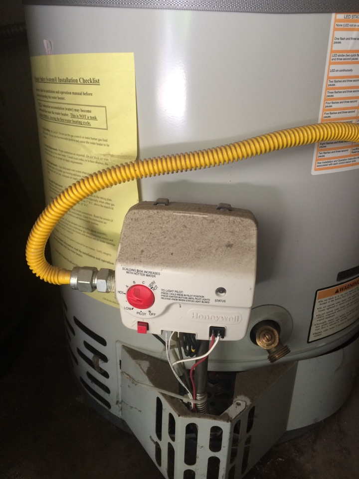 Temple City, CA - Emergency plumbing service call. Plumbing service call. Found 40 gallon water heater non-op recommend repair Bradford white water heater plumbing service