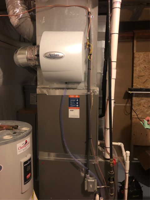 Bear, DE - Same-day humidifier install performed by Matt from Air Doctorx in Bear, DE for a wonderful client!! Thank you for allowing Air Doctorx the opportunity to improve the comfort of your home.