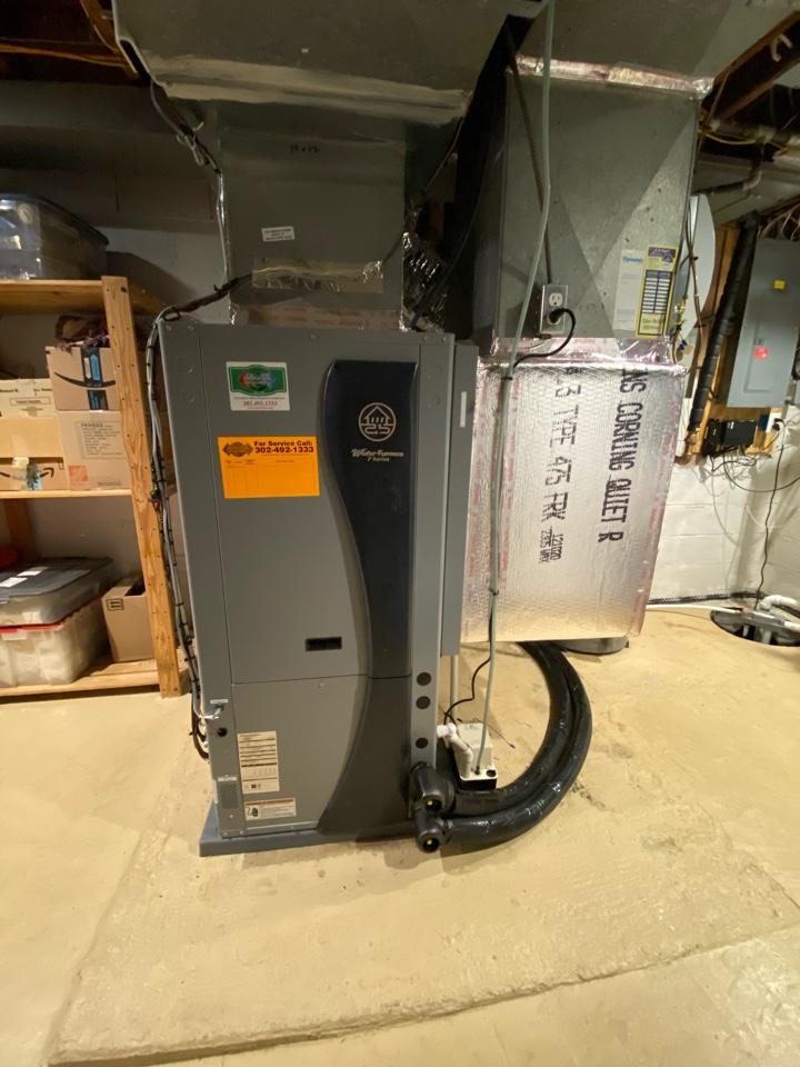 Newark, DE - Geothermal replacement, new pump pack, humidifier and return plenum replacement in Newark, Delaware