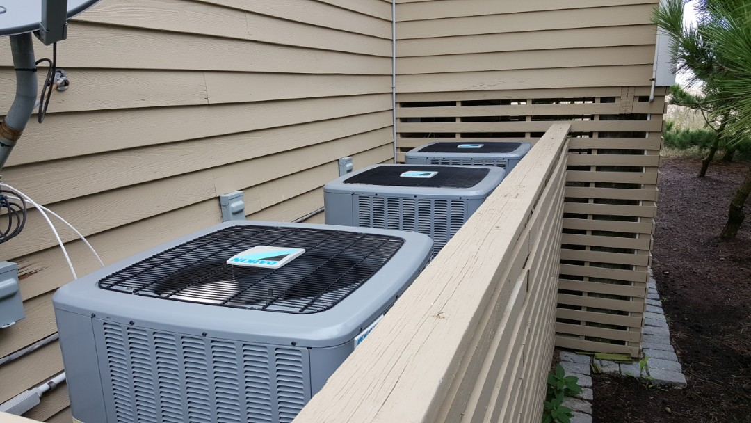 Bethany Beach, DE - Triple Install of Daikin Air Conditioning Systems!  Forth floor install for two of the furnaces!   Air DoctorX is ready for the toughest of jobs!