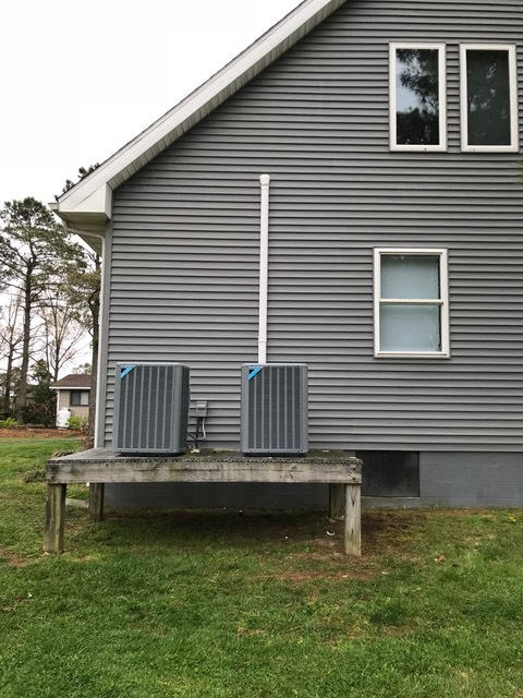 Cambridge, MD - Installation of 2 Daikin Heat Pump systems and Rinnai water heater