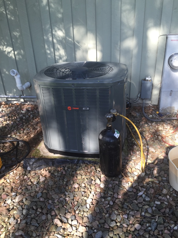 Rothschild, WI - New a/c installation: installing a new Trane a/c