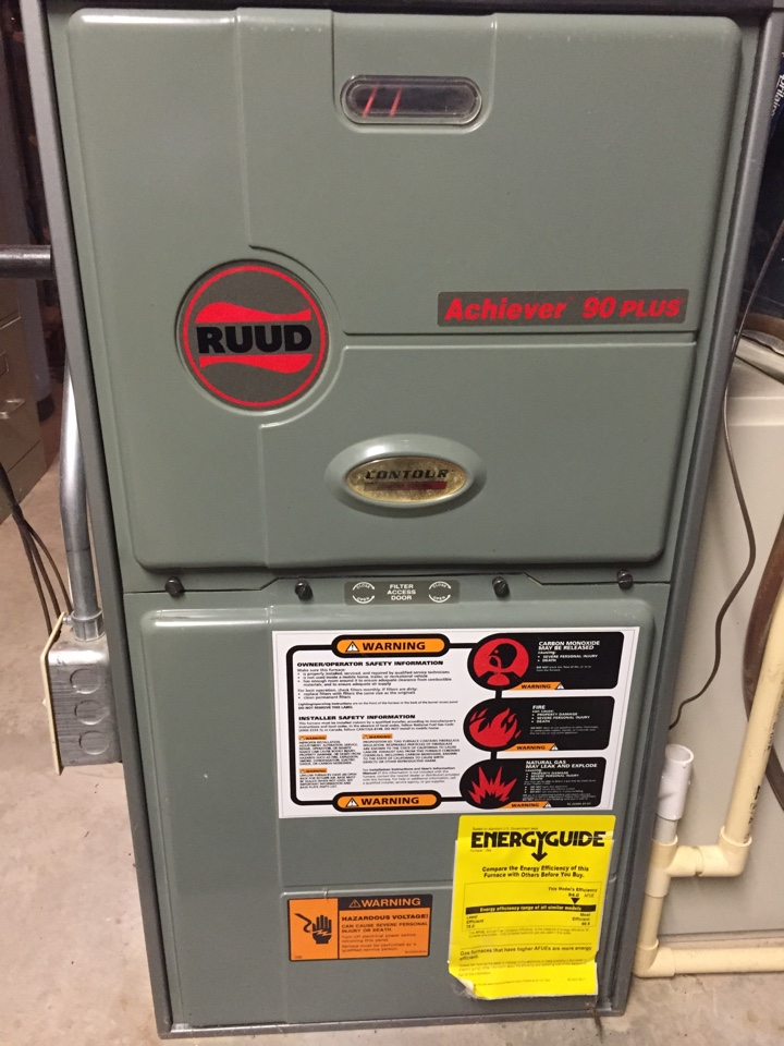 Junction City, WI - Annual furnace maintenance: Ruud maintenance
