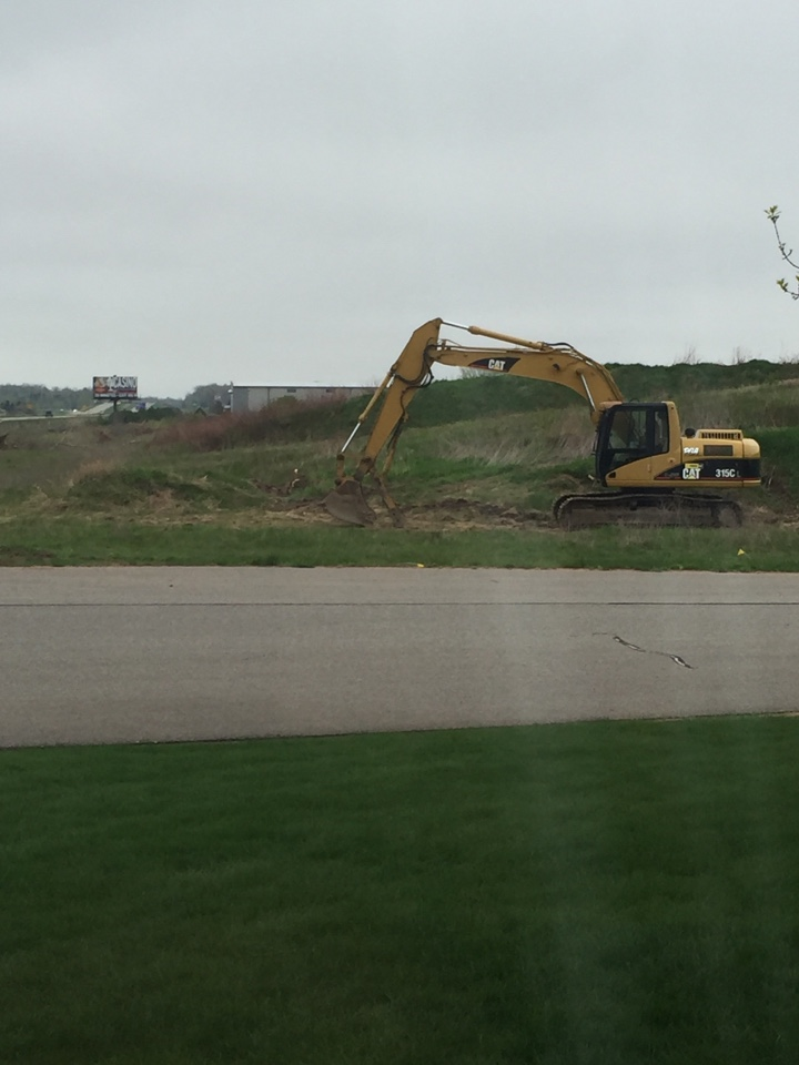 Schofield, WI - Excavation work. Clearing the new property in preparation for the new shop!