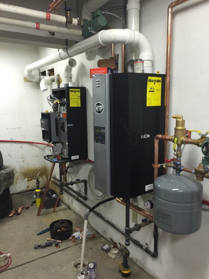 Susquehanna, PA - Installing 2 fully modulating 97% boilers.
