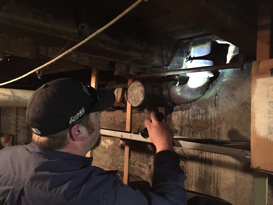 New Milford, PA - Plumbing repair on cast-iron pipe