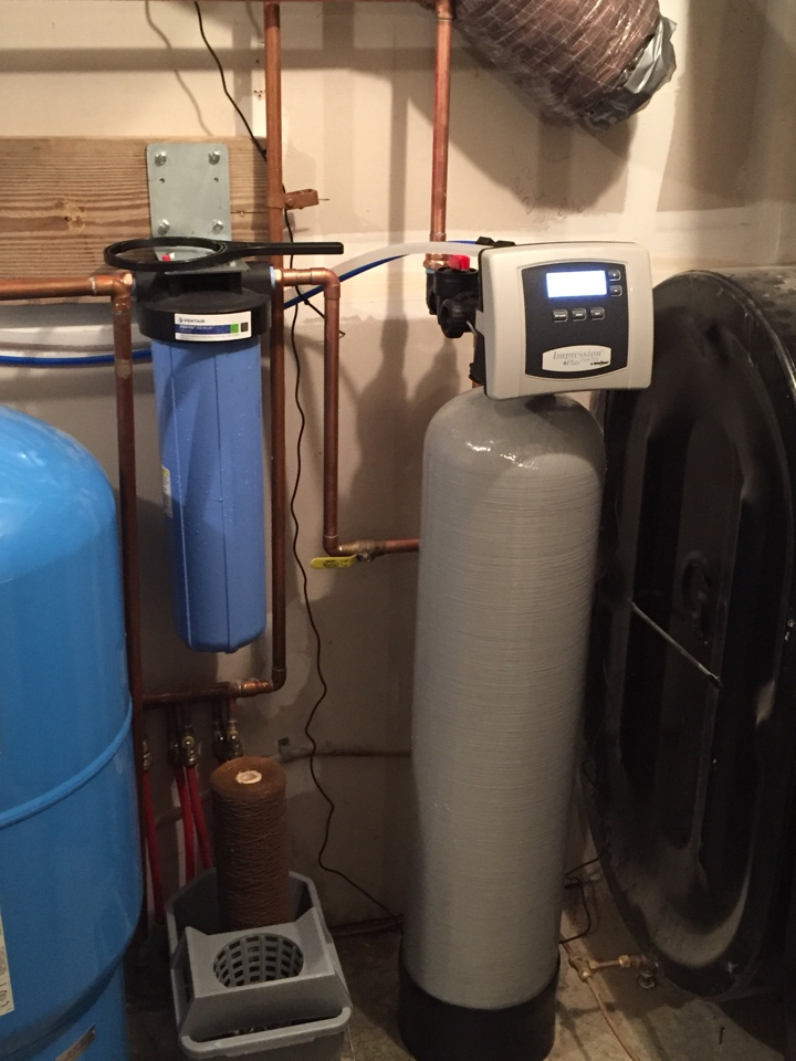 Newark Valley, NY - Installed Water Care softener & Reverse Osmosis drinking water system in Newark Valley. Removes hardness and iron.