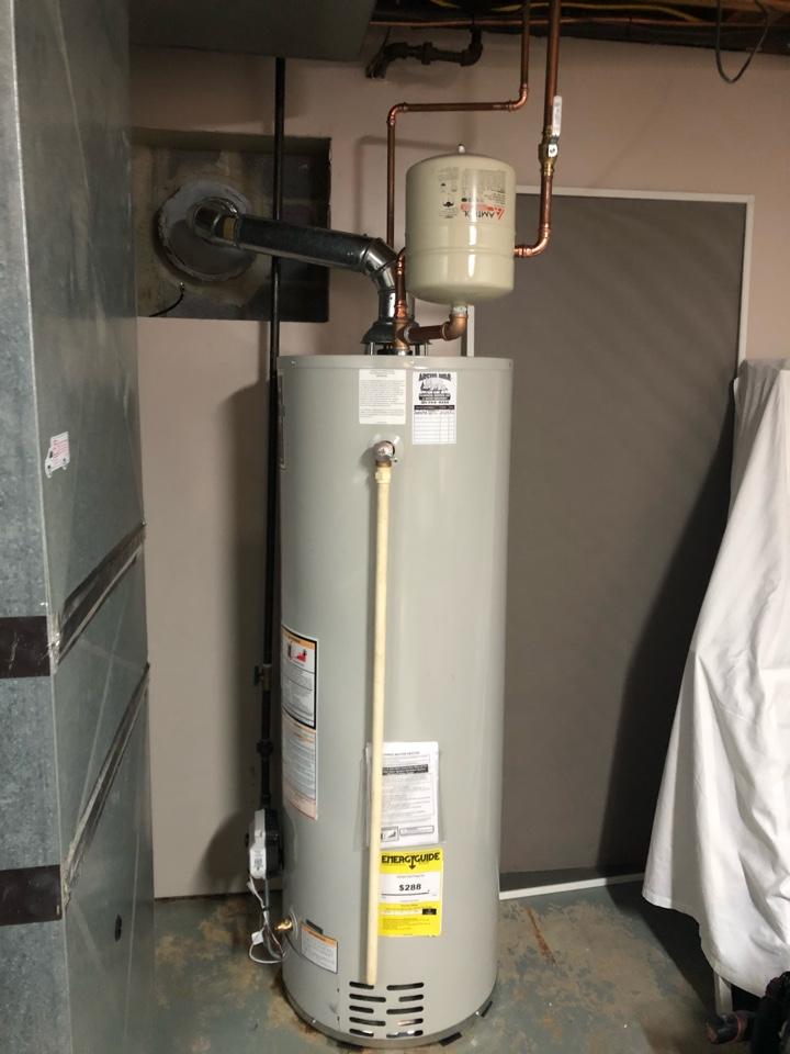 Vestal, NY - Bradford White water heater and expansion tank installation