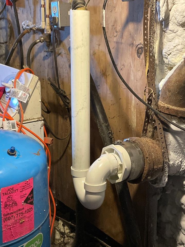 Port Crane, NY - Washing machine drain