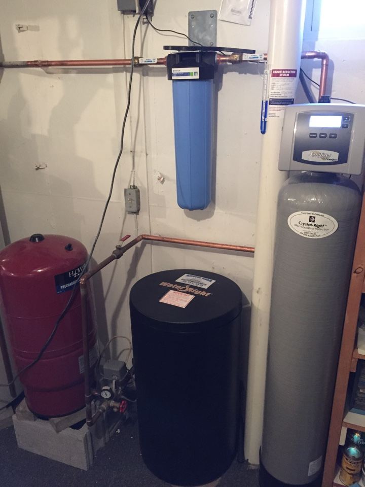 Afton, NY - Replaced Kinetico softener and installed a sanitizer to remove iron, iron bacteria and sulfur. The unit also softens the water.