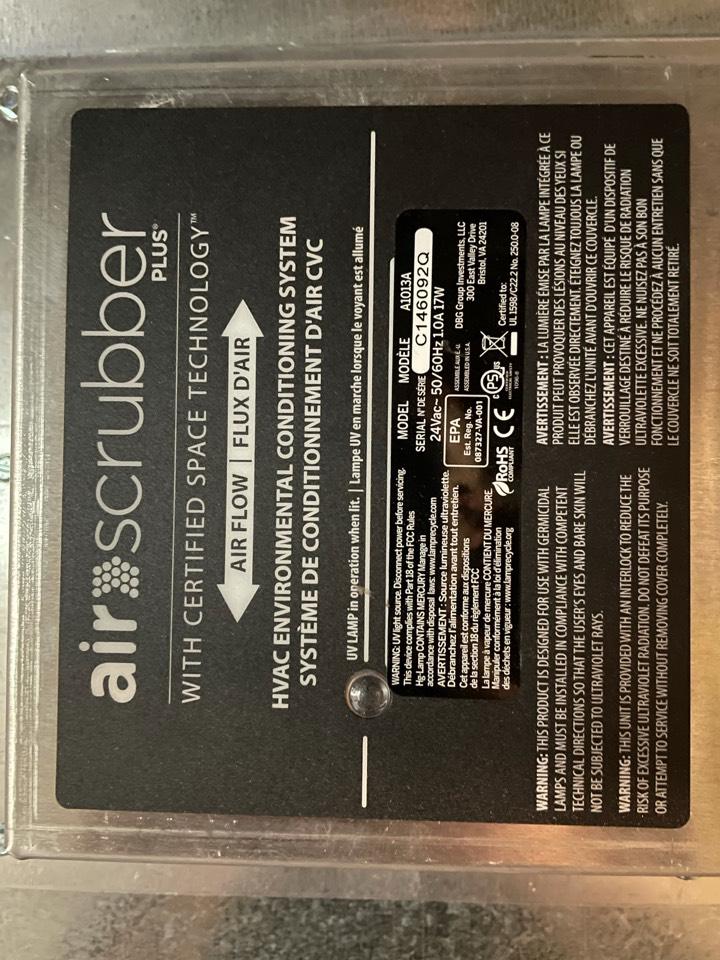 Endicott, NY - Aprilaire Humidifier service light on. Replace UV Germicidal bulb