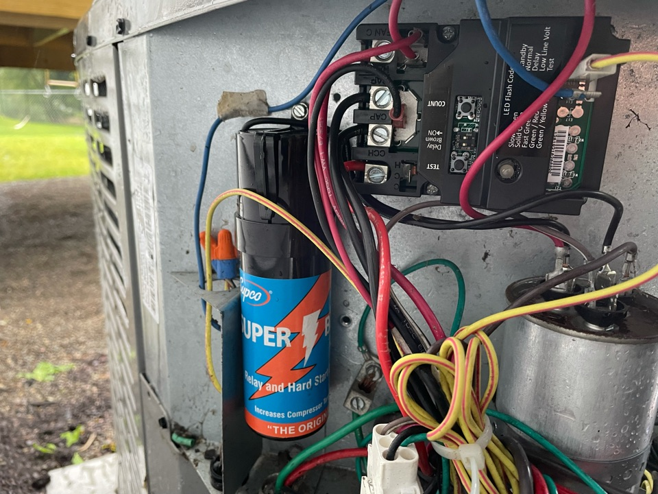 Apalachin, NY - AC not cooling well upstairs. Dirty outdoor unit. Install air purification system. AC repairs.