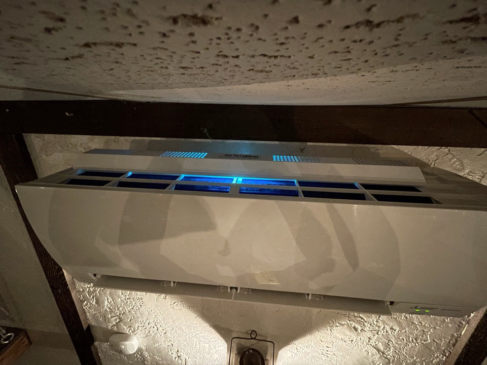 Endwell, NY - Mitsubishi ductless AC head unit cleaning and air purification installation