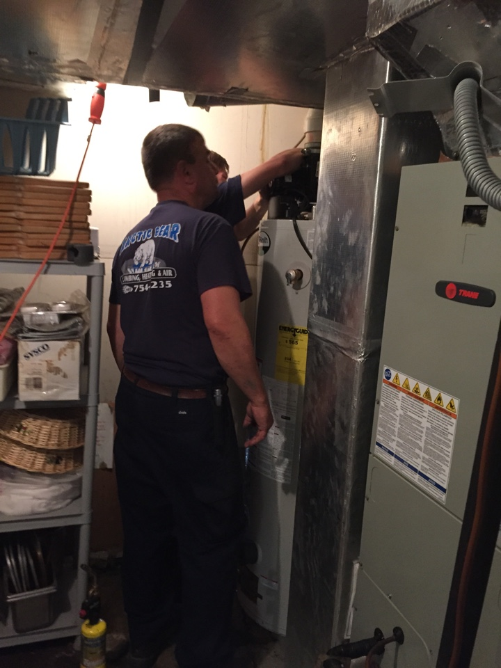 Laceyville, PA - Installing AO Smith water heater.
