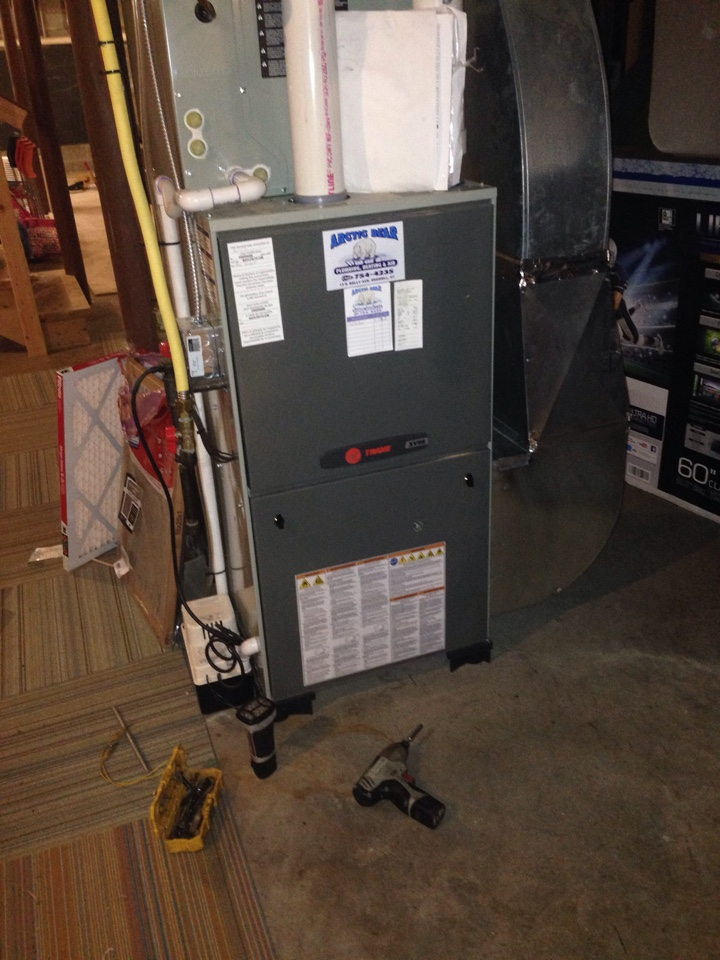 Ithaca, NY - No heat Trane hot air furnace heat pump