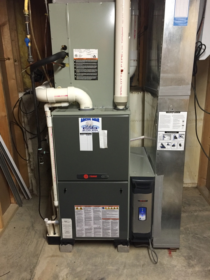 Waverly, NY - No heat. Igniter replacement on aTrane gas furnace.