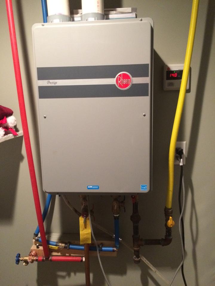 Endwell, NY - Repair of rheem tankless water heater