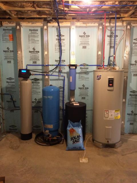 Susquehanna, PA - Installation of Water softener & RO