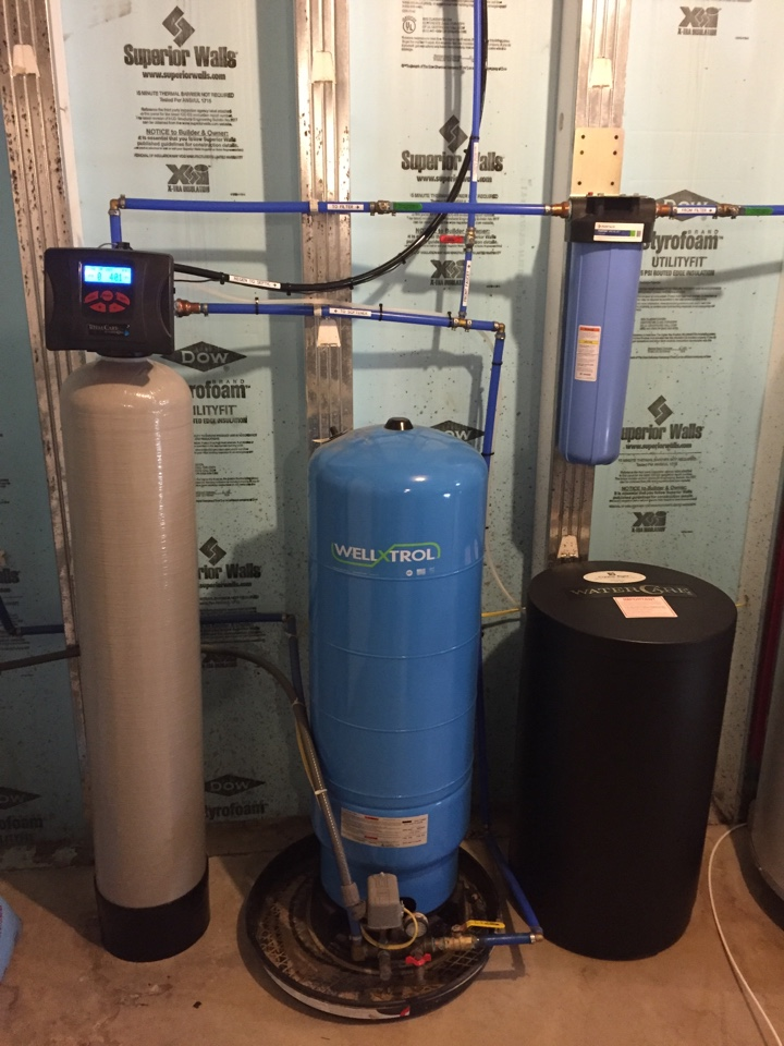 Susquehanna, PA - Installed water softener sanitizer and whole house sediment filter and reverse osmosis (RO) for hardness and iron removal. New Milford / Jackson PA