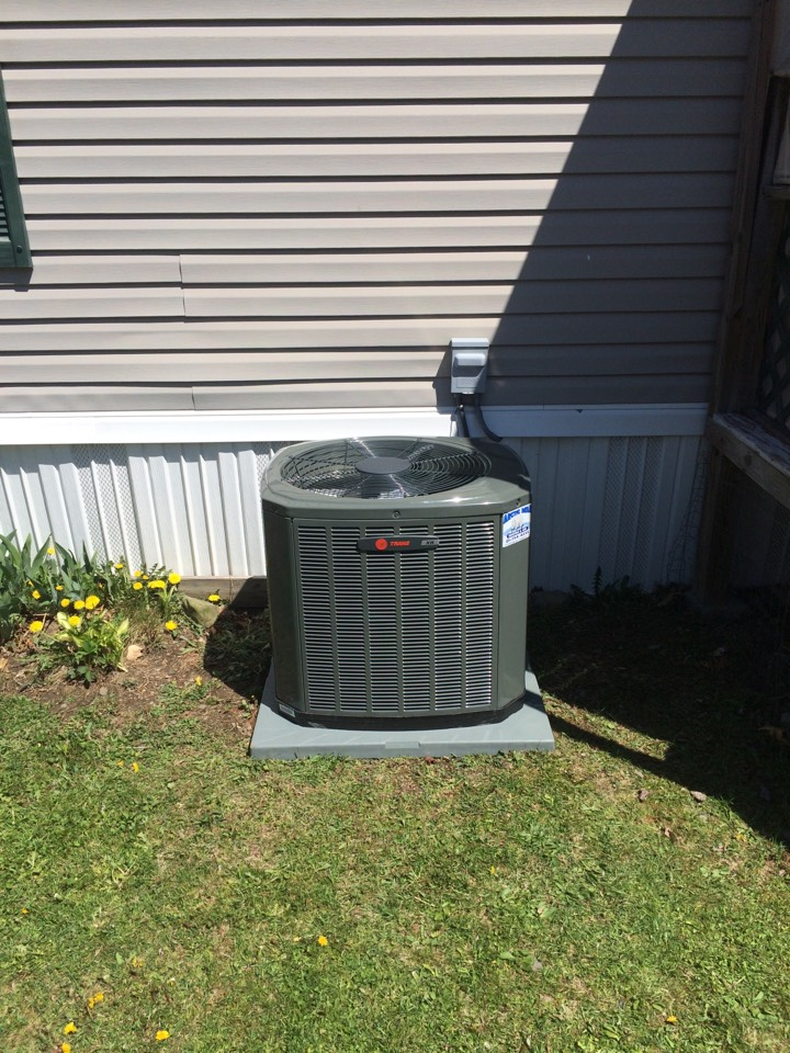 Conklin, NY - Installation of Trane air conditioner with the removal of a Miller ac