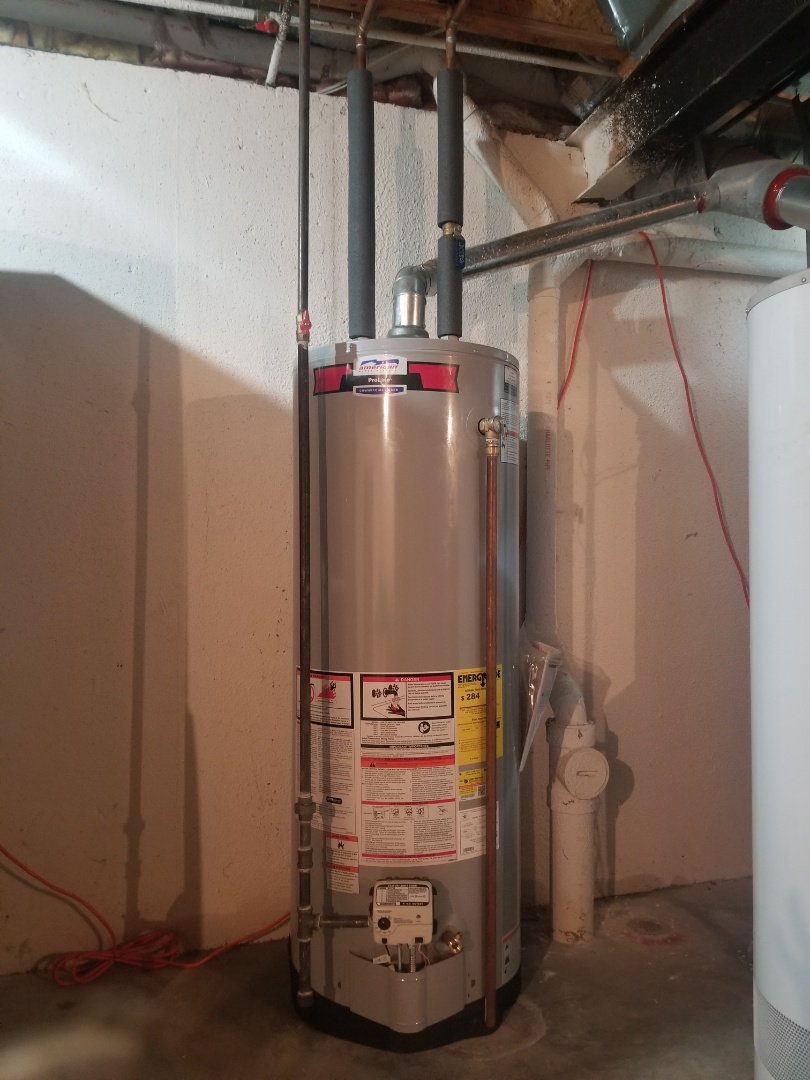 American 50 gallon hot water heater install in Waterford!