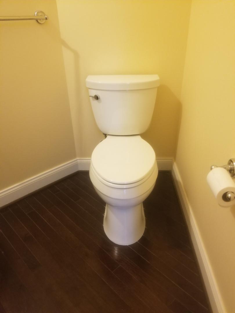 Oakland charter Township, MI - New Kohler toilet at half bath in Oakland!