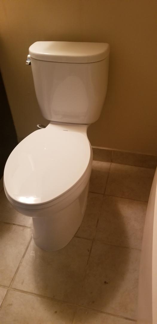 TOTO! Toilet install in Auburn Hills!