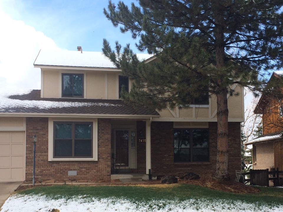 Centennial, CO - Using the right prefinished exterior color makes all the difference in the world! In this instance Renewal by Andersen replaced original wood windows with Sandtone prefinished replacement windows with high performance sunglass. No more painting and big difference in efficiency!