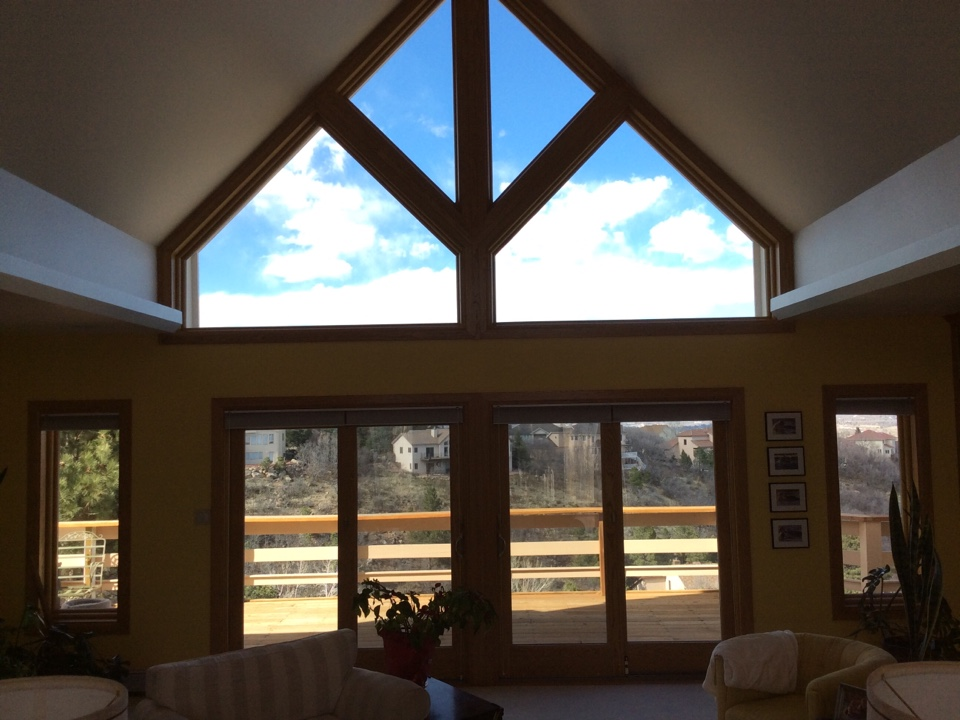 Colorado Springs, CO - Beautiful Installation of specialty windows and Frenchwood Gliding Patio Doors done by Renewal By Andersen. All the new wood trim really helped tie in the rest of this gorgeous home.