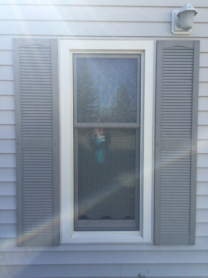 Fort Collins, CO - Replacing old drafty wood windows with beautiful maintenance-free Renewal by Andersen double-hungs.