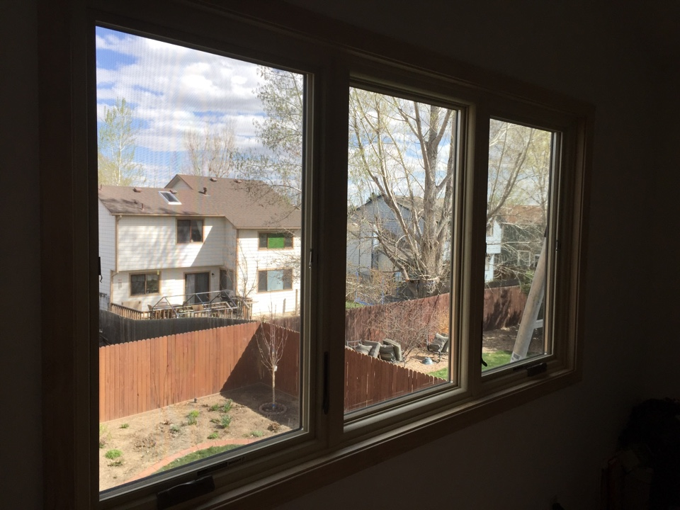Longmont, CO - Replaced old wood windows with energy efficient, low E4 glass and maintenance-free Fibrex. Renewal by Andersen windows!