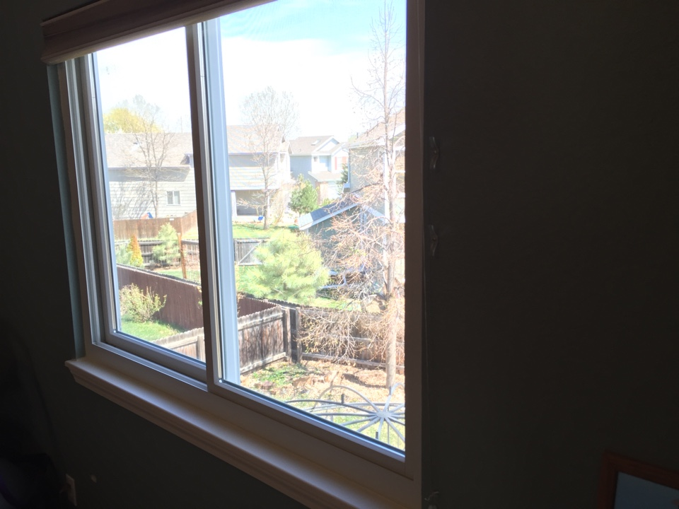 "Littleton, CO - ""We cannot believe how much warmer we were this winter with our new Renewal by Andersen gliding windows!"""
