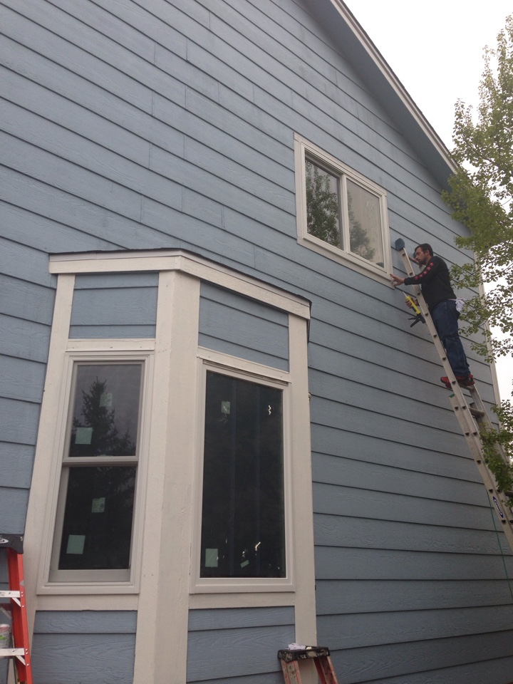 Colorado Springs, CO - Just finishing replacing 4 wood windows with Energy Efficient Renewal by Andersen Replacement Windows on the West side of the home. My customer is excited to not have rotting wood and no more intense heat coming through the windows. She loves the sunlight, but couldn't enjoy it because of all the heat. Now she can!
