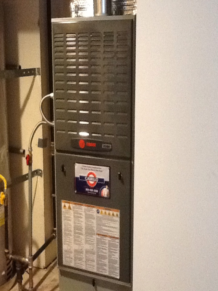 San Carlos, CA - Maintenance on Trane furnace and Bradford white hot water heater. Everything ok at this time