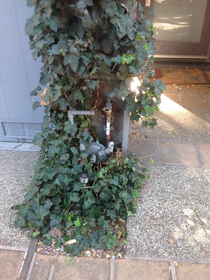 Menlo Park, CA - Plumber replace damaged water main gate shut off valve with new brass 1/4 turn ball valve.
