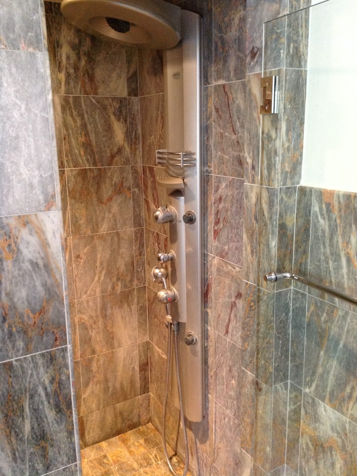 Burlingame, CA - Plumber replaced damaged/cracked sleeve on Grohe Pharo shower faucet.