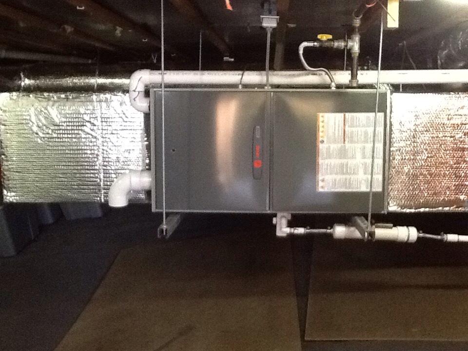 Millbrae, CA - Maintenance check on Bradford White water heater and Trane furnace.