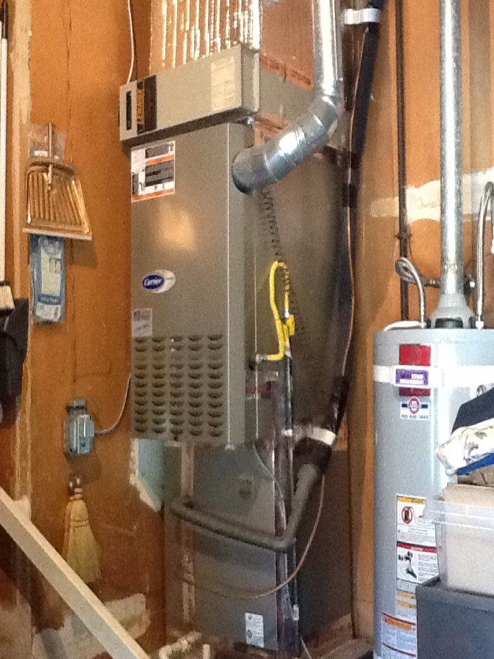 San Carlos, CA - Maintenance check on Carrier furnace and air conditioner. Cleaned filters and tested.
