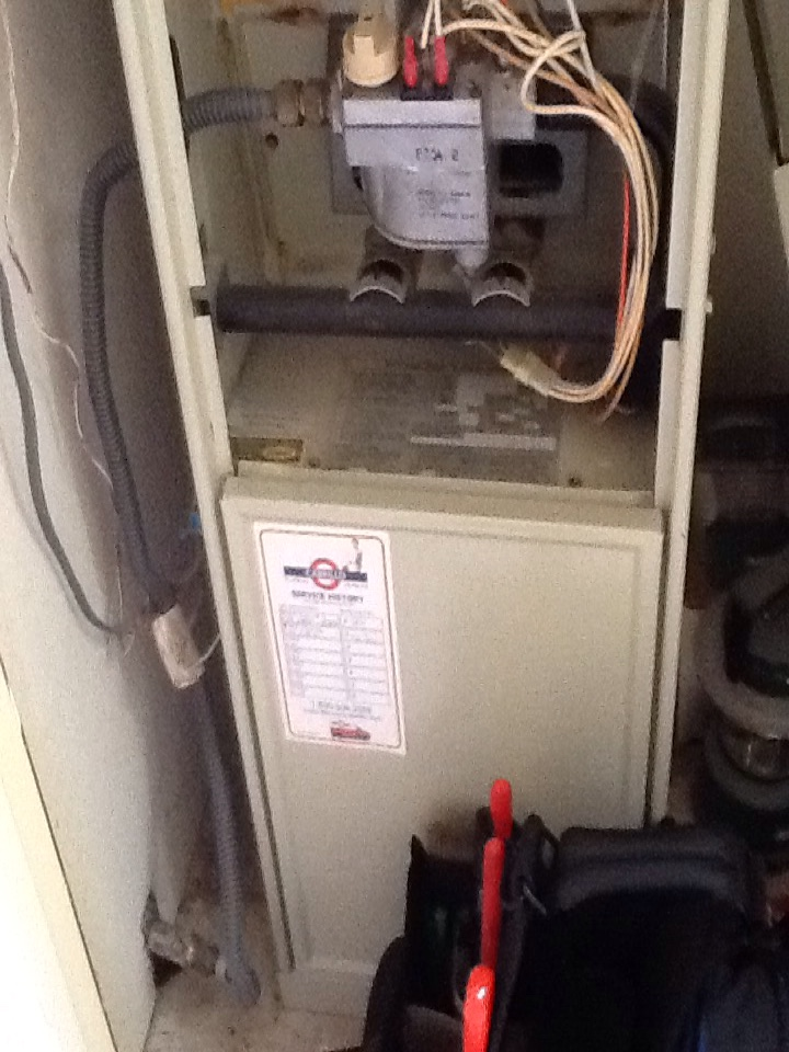 Hillsborough, CA - Maintenance check on 3 furnaces. Providing estimate for Carrier furnace, Bryant unit has defective igniter and Trane unit was ok. Replaced filters, cleaned and inspected