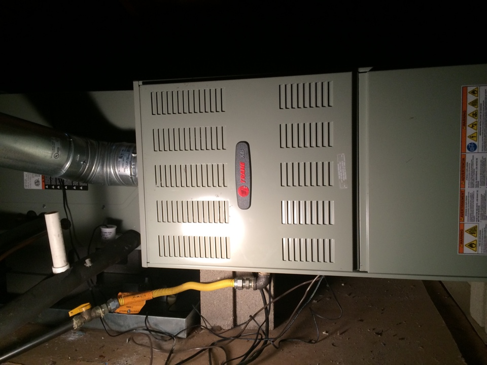 Rosedale, LA - Technician completed seasonal tune up on a 2012 trane heating system. System working at this time